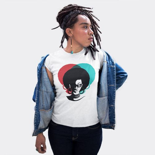 afro lady t-shirt
