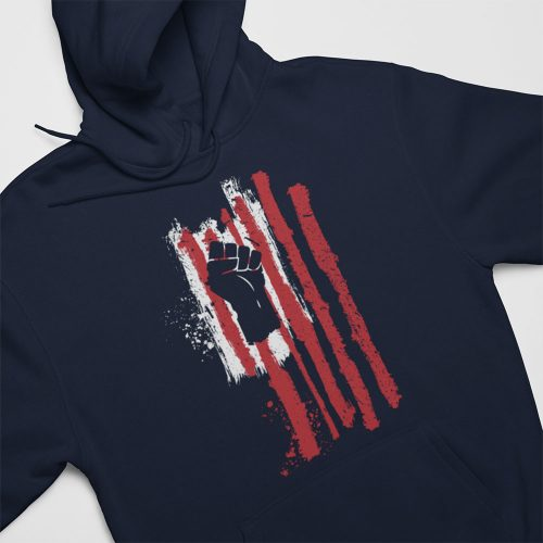 power fist flag hoody