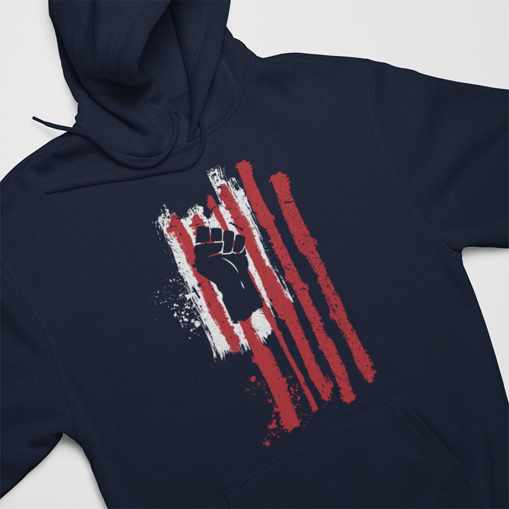 power fist flag hoody