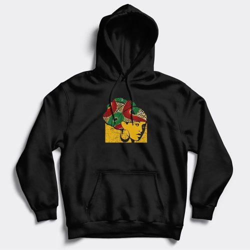 head wrap black hoodie