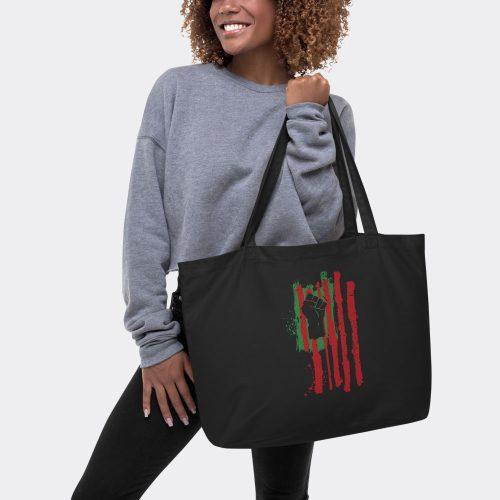 large black tote bag