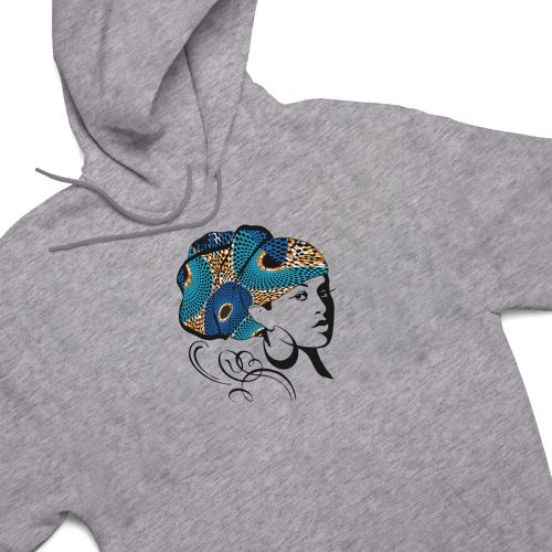 head wrap grey heather hoodie